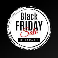 Fond noir vendredi vente
