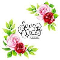 Fond d'invitation Floral Aquarelle vecteur