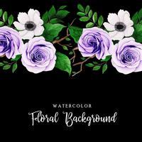 Aquarelle Fond Floral vecteur