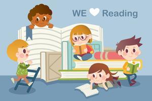 Nous aimons lire vecteur