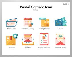 Pack d'icônes du service postal vecteur
