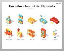Éléments de meubles Pack isométrique