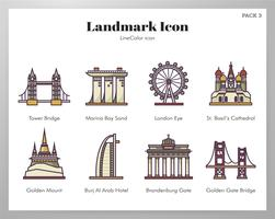 Icônes Landmark Pack LineColor