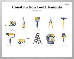 Pack d'outils de construction