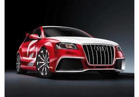 Audi A3 à l'écoute vecteur