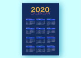 Modèle d'affaires de calendrier bleu vecteur