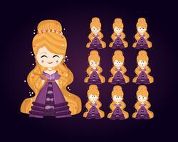 Jeu de caractères de princesse