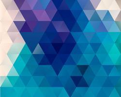 Fond bleu triangle polygone vecteur