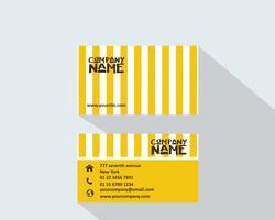 Carte de visite jaune créative