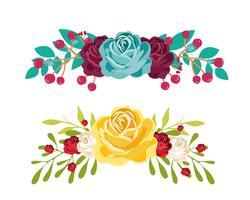 Ensemble de bouquet vecteur