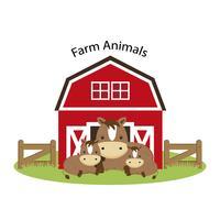 Animaux de la ferme heureux.