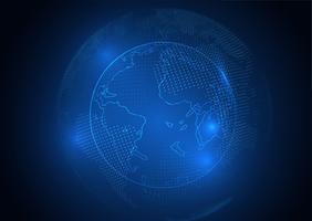 Fond de globe numérique vecteur