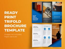 Modèle de Brochure de prêt à imprimer à trois volets vecteur