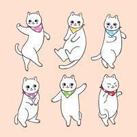 chat qui danse vecteur