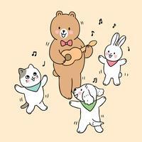 retour à l'école des animaux en classe de musique
