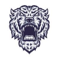 conception de tshirt illustration vectorielle tigre