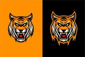 illustration vectorielle tête de tigre