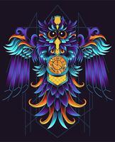 illustration de hibou géométrique