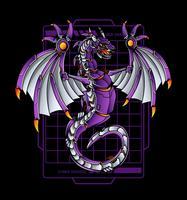 illustration de robot dragon