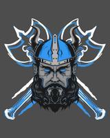 illustration puissante de viking