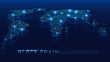 Concept technologique blockchain vecteur