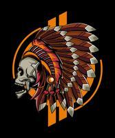illustration de crâne apache