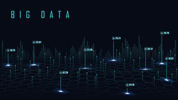 Fond de données volumineuses vecteur