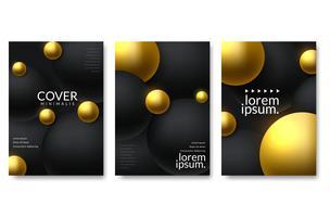 Ensemble de design de fond élégant