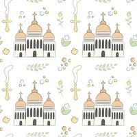 Seamless pattern of baptême vecteur