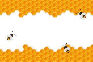 Fond géométrique en nid d'abeille vecteur