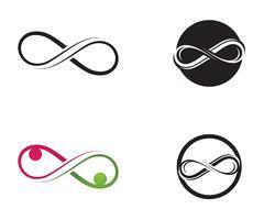 logo infini et jeu de symboles vecteur