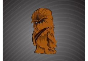 Bande dessinée chewbacca vecteur