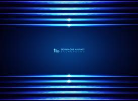 Arrière-plans de lignes bleues modernes lasers futuristes vecteur