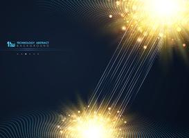 Fond bleu minimal de technologie moderne cercle demi-teinte