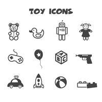 symbole d'icônes de jouet vecteur