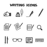 symbole d'icônes d'écriture vecteur