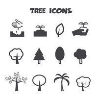 symbole d'icônes arbre vecteur