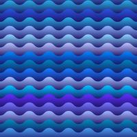modèle sans couture de vagues bleues vecteur
