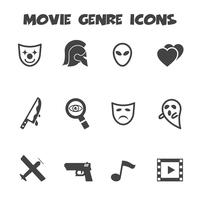 icônes de genre de film vecteur