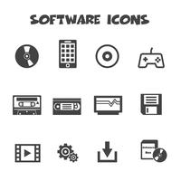 symbole d'icônes de logiciel