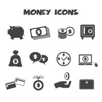 symbole d'icônes d'argent vecteur