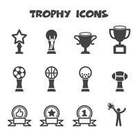 symbole d'icônes trophée vecteur