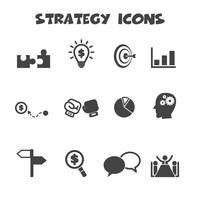 symbole d'icônes de stratégie vecteur