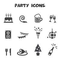 symbole d'icônes de parti vecteur