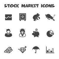 icônes du marché boursier