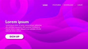Abstrait moderne vague dégradé violet violet vecteur