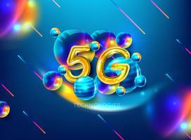 5G nouvelle connexion internet wifi sans fil vecteur