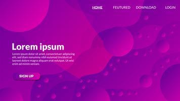 Fond de forme abstraite dégradé violet moderne
