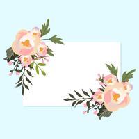 Cadre de fleurs de printemps vecteur