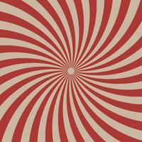 Lignes radiales graphiques de cirque rouge sur fond marron clair vecteur